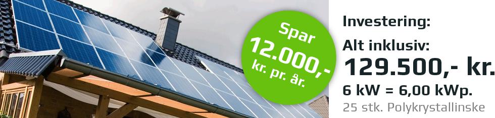 6 kw solcelleanlæg